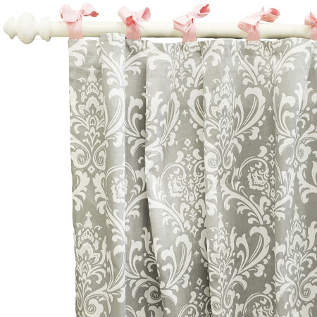 damask curtains pink curtains gray curtains nursery curtains. Black Bedroom Furniture Sets. Home Design Ideas